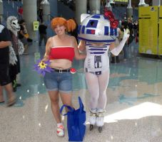 CK12-Misty and R2D2 Hello Kitty by moonymonster