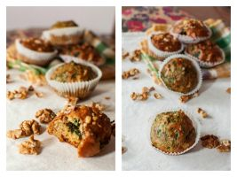 muffins with spinach by FiorOf