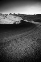 Curved Dead sea road by kosmobil