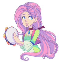 Hippy Fluttershy + VIDEO by Looji