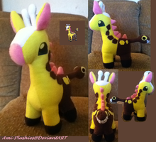 Girafarig Plush Sold by Ami-Plushies