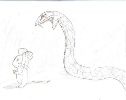 Snake v.s Mouse by QweXTheXEccentric
