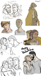 Sketchdump: Guss and his bitches by Eninaj27