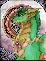 Kitchi the green dragon. by Shalinka