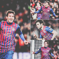 Messi . Cesc by w6n3oshaq