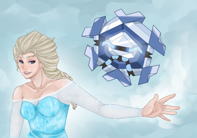 Elsa and Cryogonal by moothequackingcow