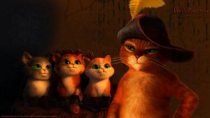 THE THREE PUSSKETEERS plus 1 by CSuk-1T