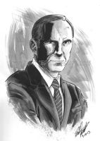 Coulson Headshot 2 by tedwoodsart