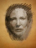 Cate Blanchett tonal drawing - pastels by alegreghi
