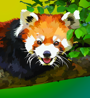 Red Panda in tree by elviraNL
