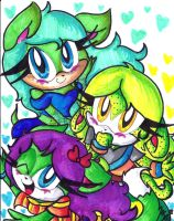 C: Hadi, Rinn, and Bailey by Lilymint7