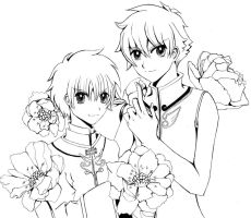 Syaoran and Syaoran Li by Lunayl