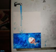 drawing board and paper by berkozturk