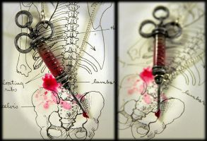 Blood filled Antique Syringe.... by NeverlandJewelry