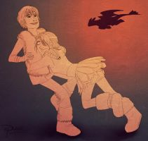 Astrid  and Hiccup by palnk
