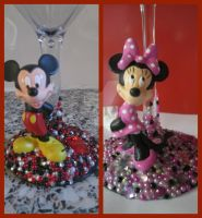 Character Glasses: Mickey and Minnie by amandas-crafts