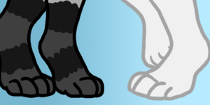 [YCH] Gray's and Cambriel's Paws by CassMutt