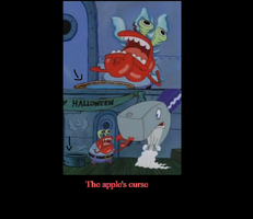 Spongebob Halloween error by Karasu-96