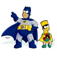 BATMAN AND ROBIN - THE SIMPSONS by MOROTEO56
