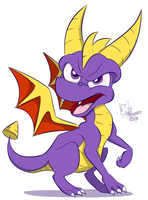 + Little Spyro + by faster-by-choice