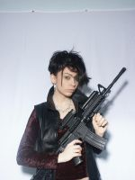 Woman With Gun 1 by cyber-stock