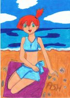 Misty at the beach by JessieSilver