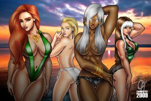 X-Women Swimsuit Edition by Cahnartist