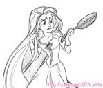 Rapunzel and her dang pan by The-Ez