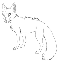 Free Fox Outlines 2011 by RukiFox