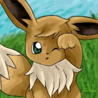 Eevee by lightningchan