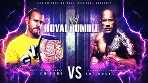 Wwe RR13 Cm Punk vs The Rock Wallpaper by T1beeties