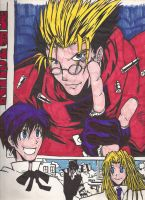 Trigun comic style fin by Marimokun