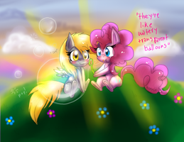 transparent balloons of friendship by KamiraCeeker