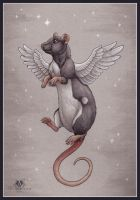 Rat Angel by DolphyDolphiana