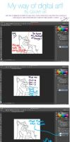My 1st Tutorial How to color/draw Digitally (PKMN) by Colorful-Kaiya