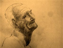 the laughing old man by Sem-master