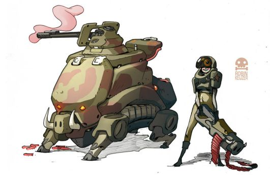 MobileSniper Unit of the P.I.G.army by RobinKeijzer