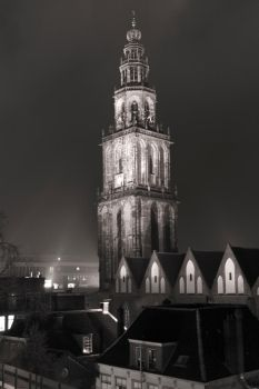 Martinitoren in B and W by Nilkes