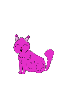 Cotton Candy Cat by 8flashmemories