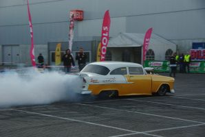 Chevrolet Dragster Burnout by Heavymedicated