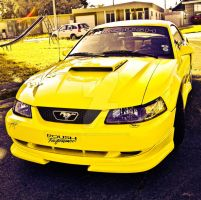 Ford Mustang Yellow Horse by KhaosTheory455