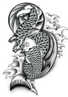 Dragon and Koi by Danwhitedesigns