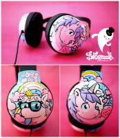 Unicorn headphones by Bobsmade