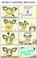 Sparks' Surprise Birthday by pichu90