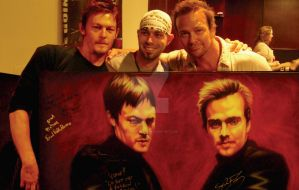 Me and the Saints...Signed... by TheArtofAir