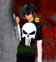 Kyoya Hibari as the Punisher by hk-1440
