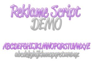 Reklame Script DEMO Font by editionrocks