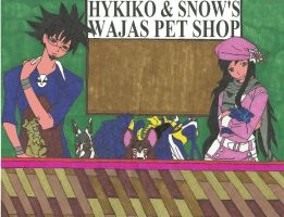 Hykiko and Snow's Wajas Pet Shop Colored by EDSW-Group