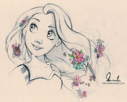 Tangled Sketch by kleinmeli