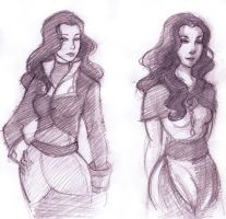 Asami's dresses by threkka